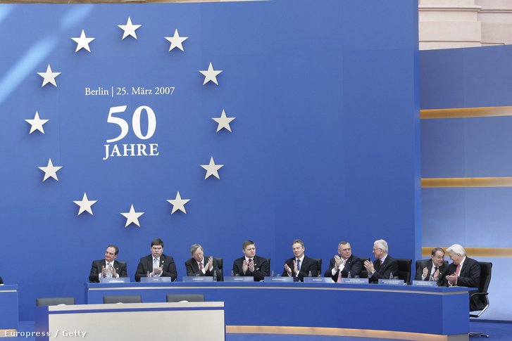 A Római Szerződés 50. évfordulójának ünneplése Berlinben, 2007-ben.