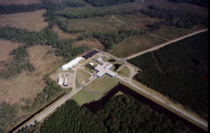 A livingstoni LIGO-detektor, ahol a magyar csapat is dolgozott.