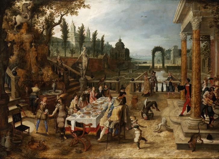 Étkező társaság a szabadban (Antwerpen 1573 – 1647 Antwerpen)