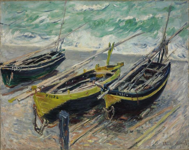 Három halászhajó Párizs 1840 – 1926 Giverny