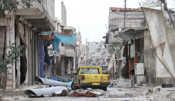 Kobane romos látképe.
