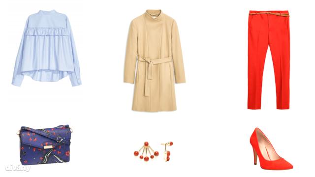 Blúz - 9490 Ft 8H&M), kabát - 19995 Ft (Mango), nadrág - 8995 Ft (Zara), táska - 4290 Ft (Deichmann), fülbevaló - 10 font (Asos), cipő - 7390 Ft (CCC)