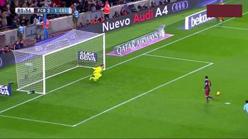 A kapus is Messi 300. gólját várta, hatalmasat szólt a cruyffos csel