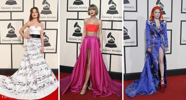 Diana Gloster, Taylor Swift és Lady Gaga: csak páran a 2016-os Grammy jólöltözött celebnői közül.