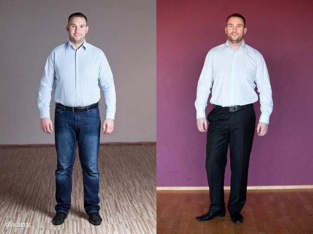 Császi András összesen 10 kilót és 18 centimétert fogyott.