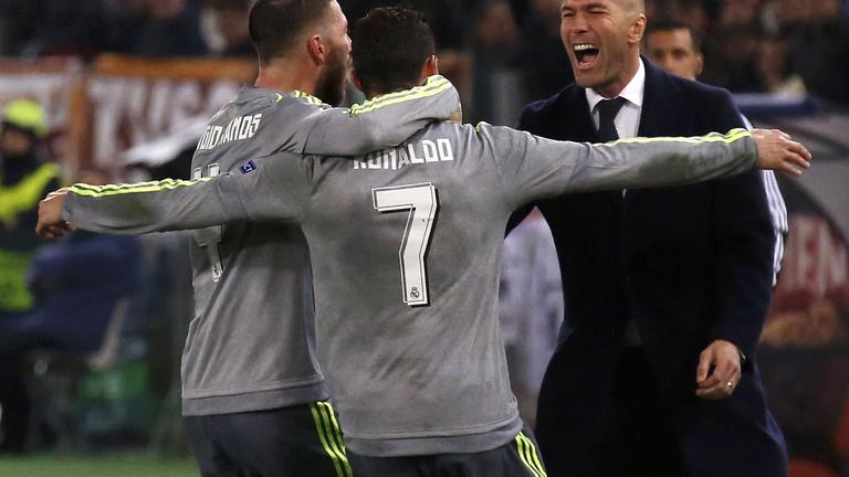 A Real megmosolyogtatta Zidane-t Rómában