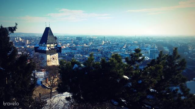 Schlossberg és óratorony, Graz