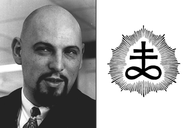 Az egyház jelképe és az alapító, Anton Szandor LaVey