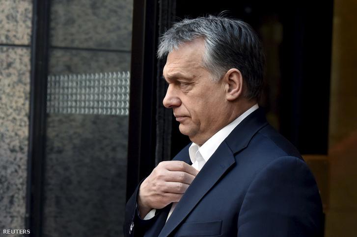 Orbán Viktor a brüsszeli csúcstalálkozón, 2016. február 19-én.