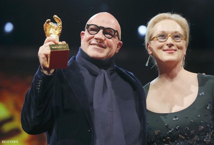 Gianfranco Rosi és Meryl Streep