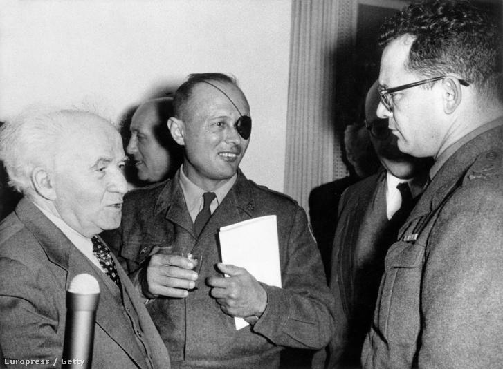 Ben Gurion, Móse Daján és Chaim Laskow