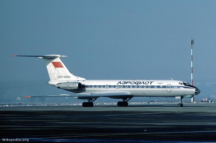 Aeroflot Tu-134A - a balesetben lezuhant gép ugyanez a típus volt