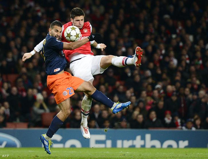 Olivier Giroud, aki már az Arsenalban játszik