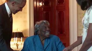 106 éves nénike táncolt Obamával