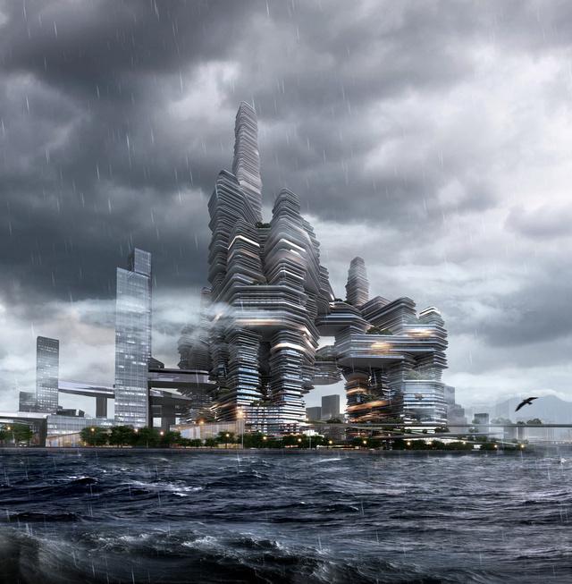 Zord, de látványos tornyok Hongkongban.