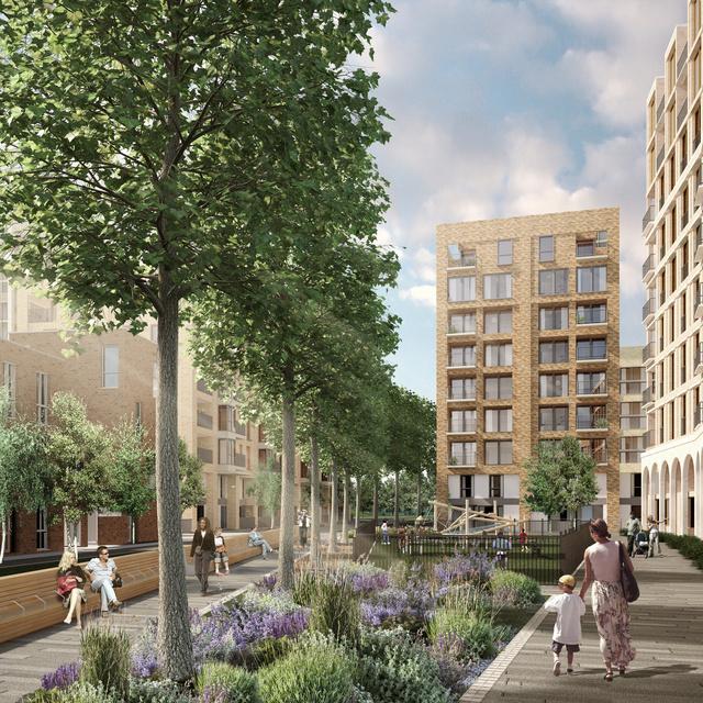 A HTA Design egyik londoni projektjének látványterve.