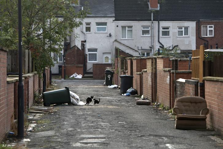 A Dél-Yorkshire-i Rotherham egyik utcája