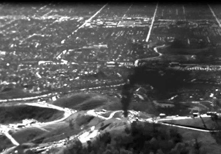 Infrakamerával készült felvétel a szivárgásról