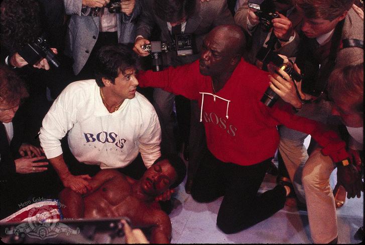 Sylvester Stallone, Carl Weathers és Tony Burton aRocky 4-ben