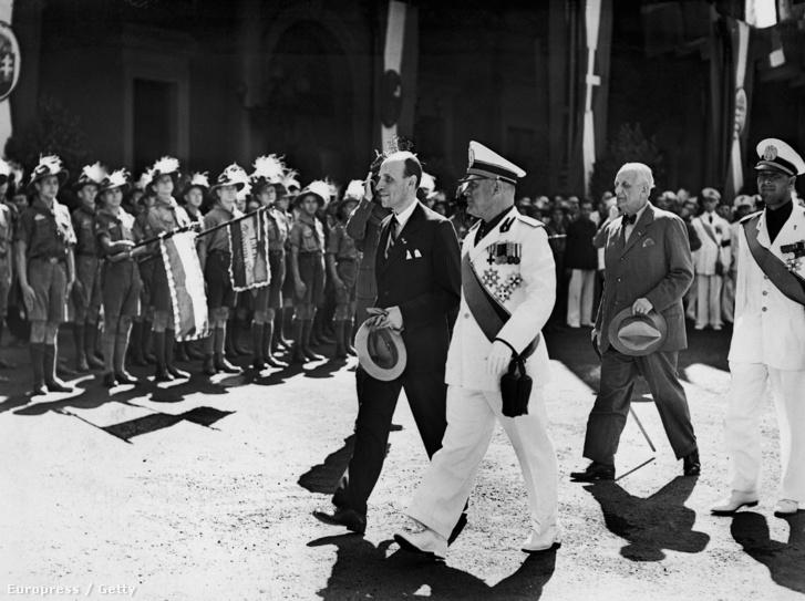 Imrédy Béla és Benito Mussolini. Róma, 1938. július 19.