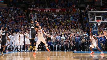 Elképesztő, honnan vállalta el a győztes triplát Curry