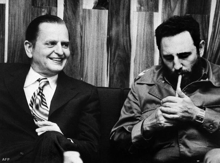 Olof Palme és Fidel Castro Kubában, 1973-ban.