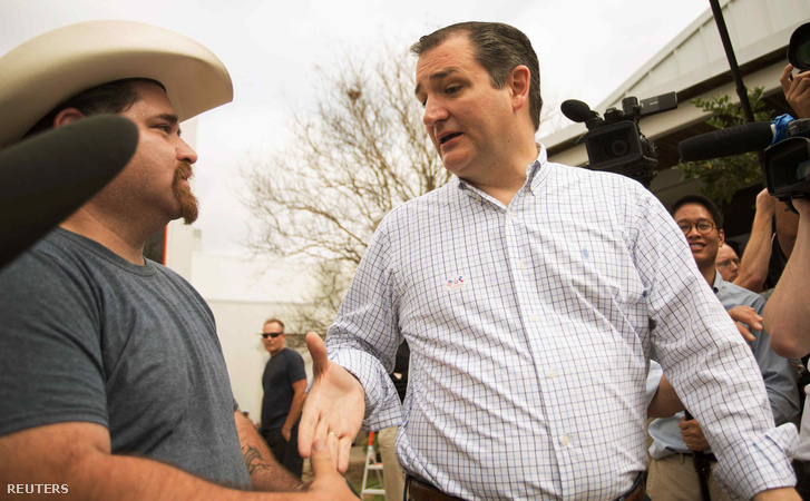 Ted Cruz szavazókkal találkozik Texasban