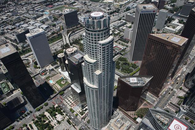 US Bank Tower - innen lehet lecsúszni