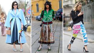 Így hordják az aktuális trendeket Milánóban