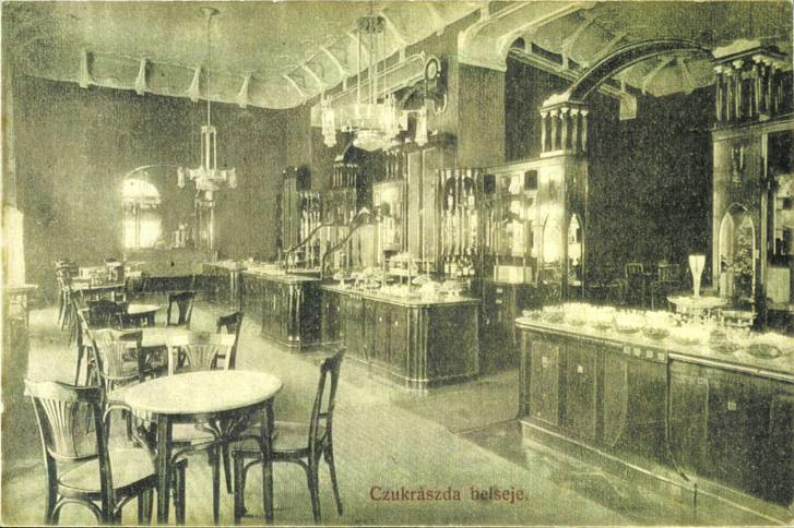 Kiss Miklós cukrászdája a József körúton, egy 1911-es képeslapon