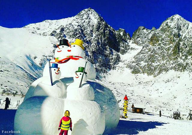 Tátralomnic - a Kőpataki tónál ilyen óriás hóemberek vannak