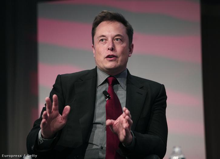 A Tesla- és SpaceX-főnök Elon Musk