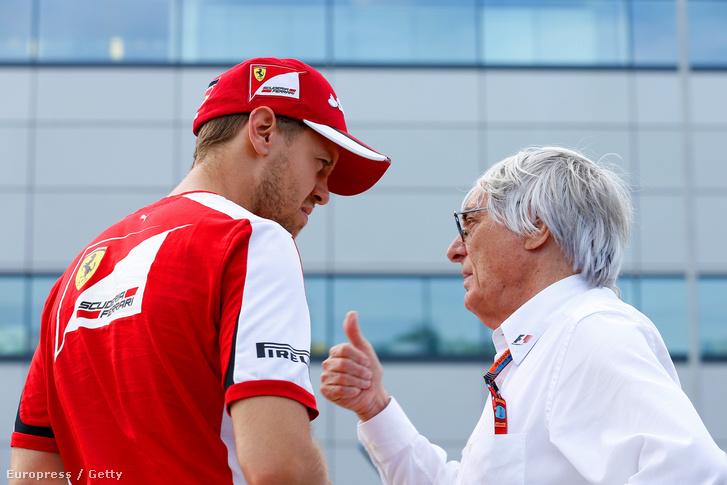 A ferraris Vettel és Ecclestone