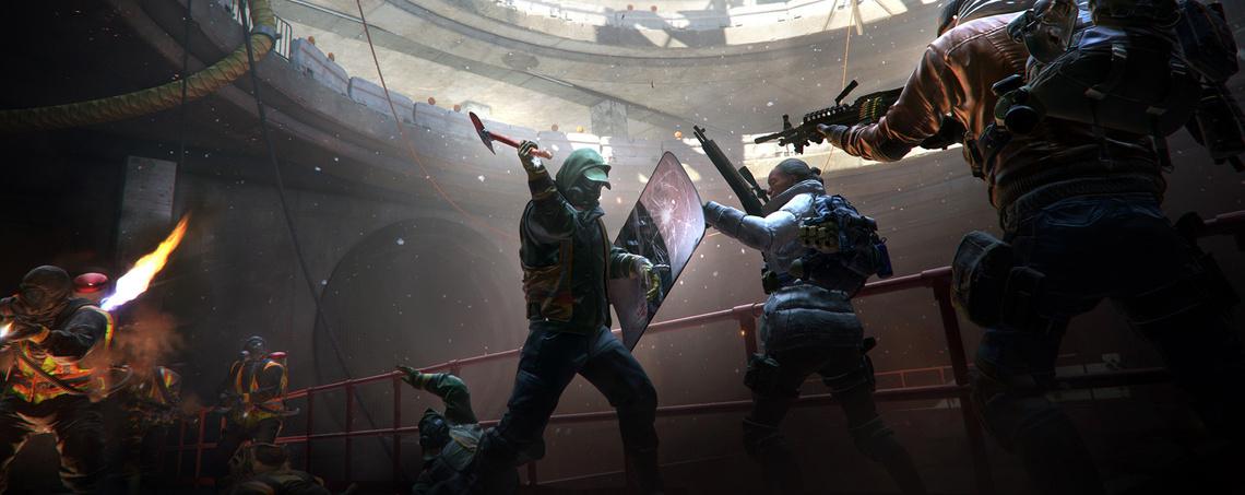 Egy concept-rajz a játékból, amin kb. az összes ellenség egyszerre rajta van