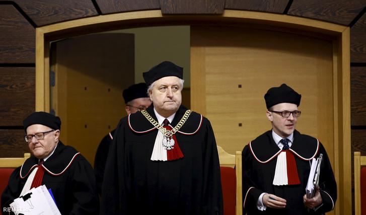 Andrzej Rzeplinski, a lengyel Alkotmánybíróság feje március 8-án Varsóban