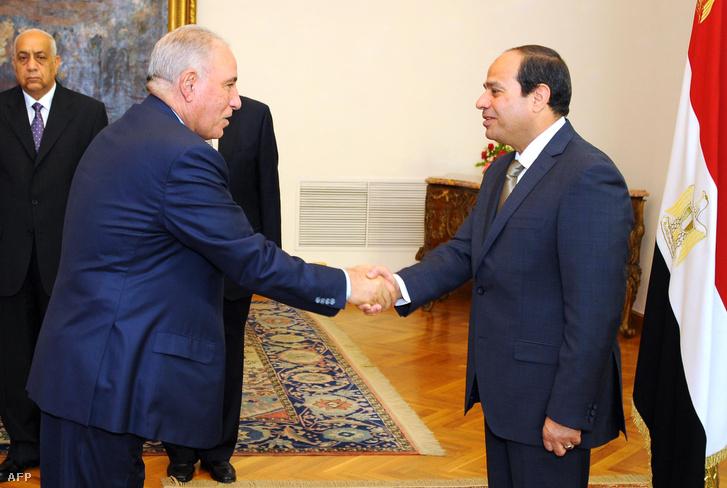 Abdel-Fattah al-Sziszi és Ahmed al-Zind