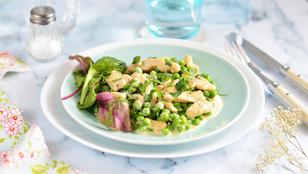 Gyors ebéd: zöldborsós-tejszínes csirkemell