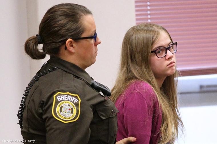 Morgan Geyser az ügy bírósági tárgyalásán