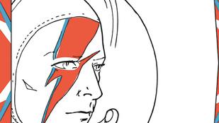 David Bowie-ból falvédő után kifestő is lett
