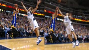Curry úgy beforgatta Nowitzkit, mint egy ovist