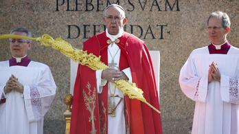 Virágvasárnap is a menekültekről beszélt Ferenc pápa