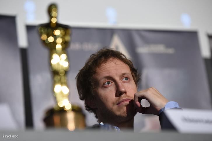 Nemes-Jeles László az Oscar-díjjal