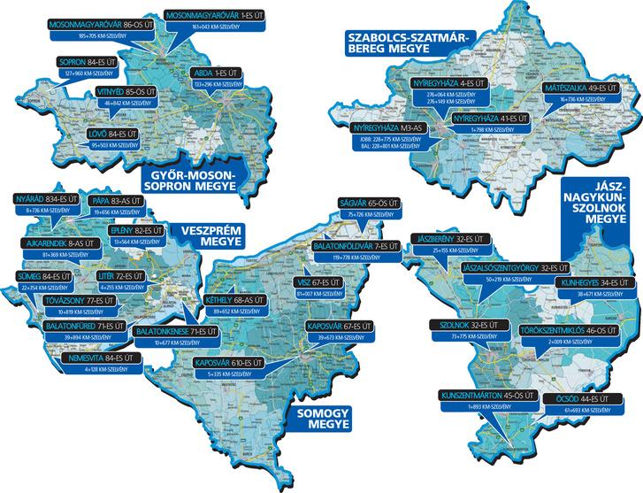 Az utolsó körben Győr-Moson-Sopron,  Jász-Nagykun-Szolnok, Somogy, Szabolcs-Szatmár-Bereg és Veszprém megye új ellenőrzőpontjait adták közre
