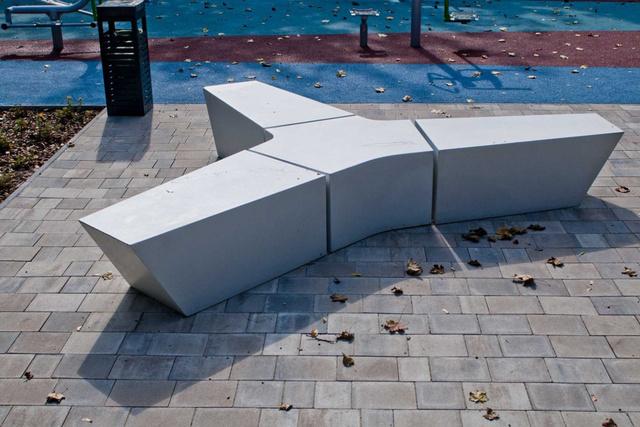 Betonelemekből álló betonpad a VPI-től.