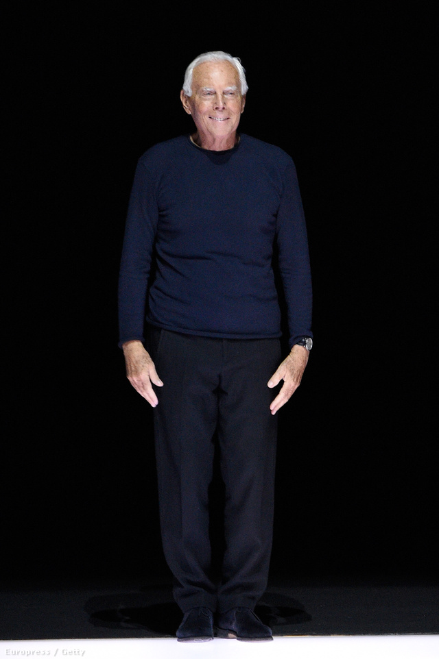 Giorgio Armani 81 évesen is képes váltani.