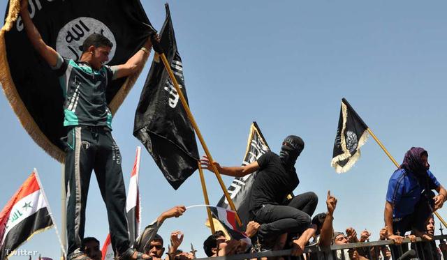 Isis harcosok Irakban