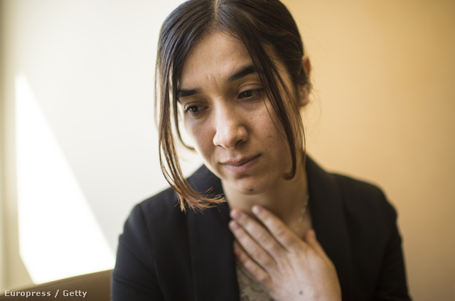 Nadia Murad, aki egyike volt annak a közel ötezer jazidi nőnek, akiket az Iszlám Állam ejtett foglyul 2014-ben.