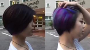 Ez a hajfestés csak akkor látszik, ha a viselője akarja