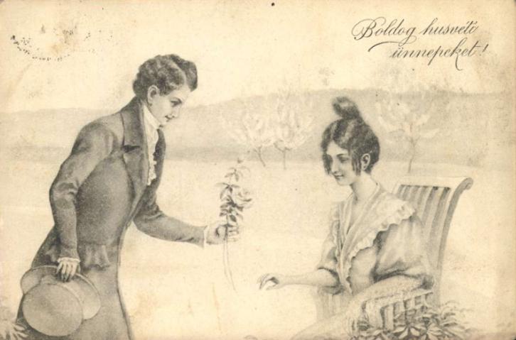 Szerelmes képeslap 1913-ból