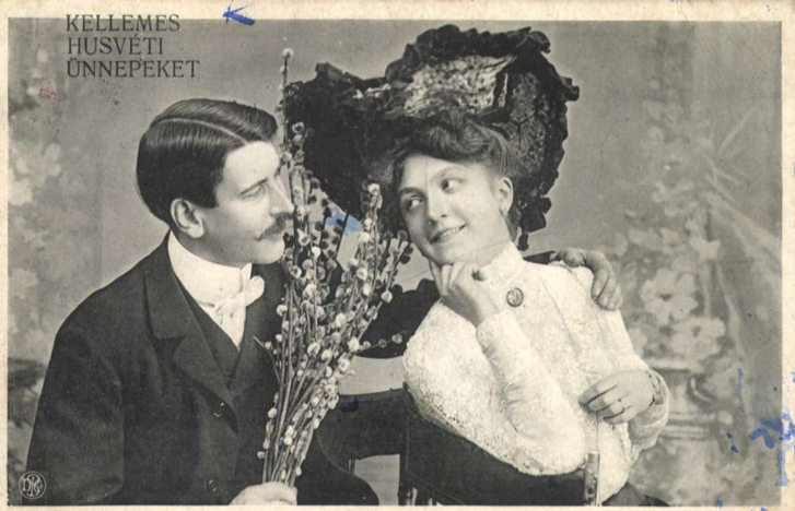 Húsvéti szerelmespár, 1908
